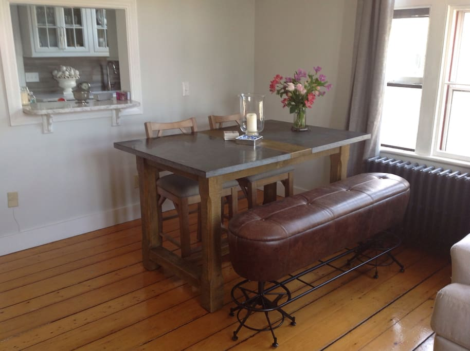 Four Hands Hughes farmhouse dining table.