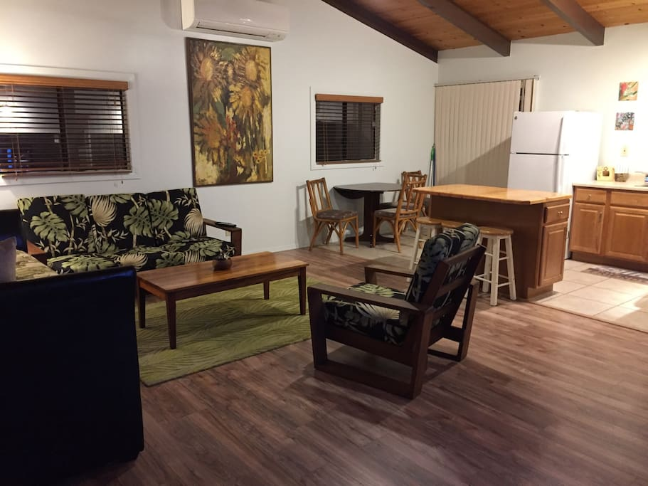 Open concept kitchen living area
