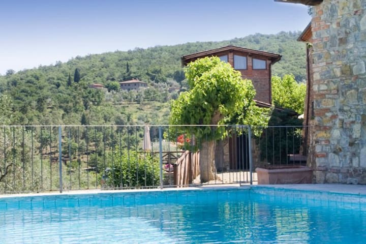 Tuscany -6 apts., pool on two levels with solarium