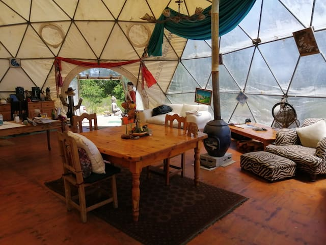 Geodesic Dome Heaven in Forest Paradise