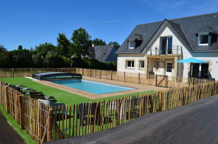 Villa Ar Mor Gwenn  piscine chauffée sur Fouesnant