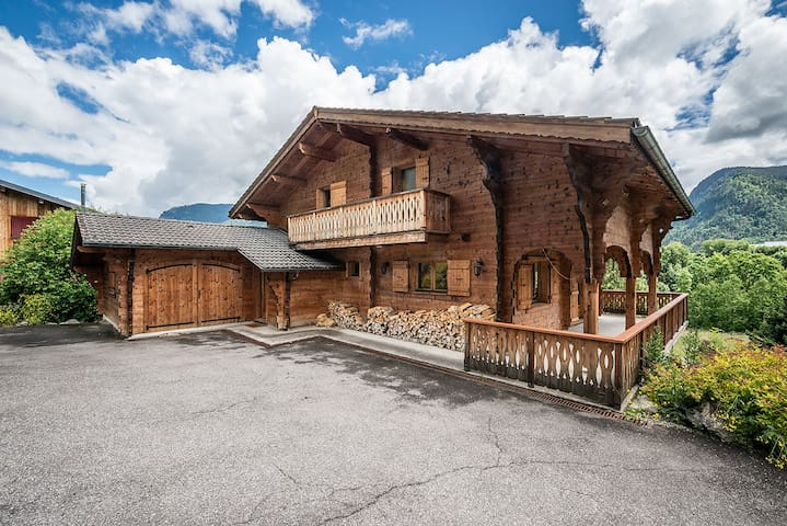 Stunning large traditional Alpine chalet with view