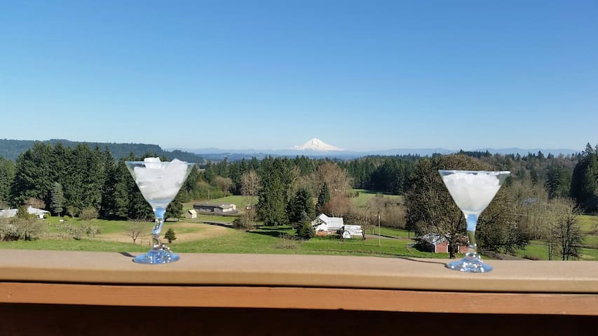 Sunday morning quiet , Mt Hood view, close to all!