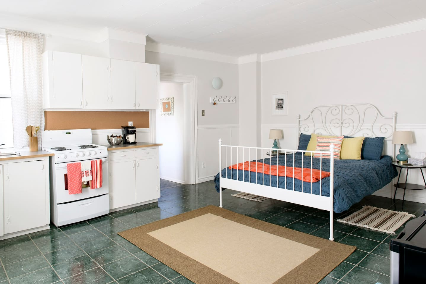 Our AirBnb space is bright & cheerful, just the way we like it.