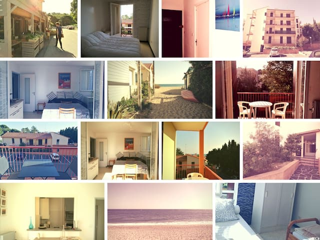 Beautiful & cosy flat near sea & with sea view - Argelès-sur-Mer - Byt