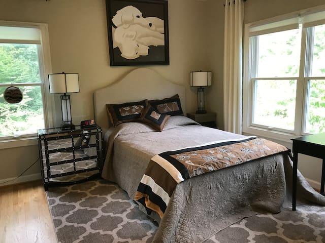 Sunlit Bedroom with Bath