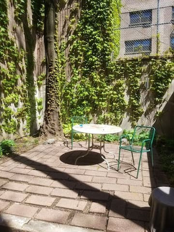 Beautiful Central Park Brownstone, Private Patio
