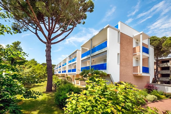 Apt for 5+1 persons with a/c in Bibione R66723