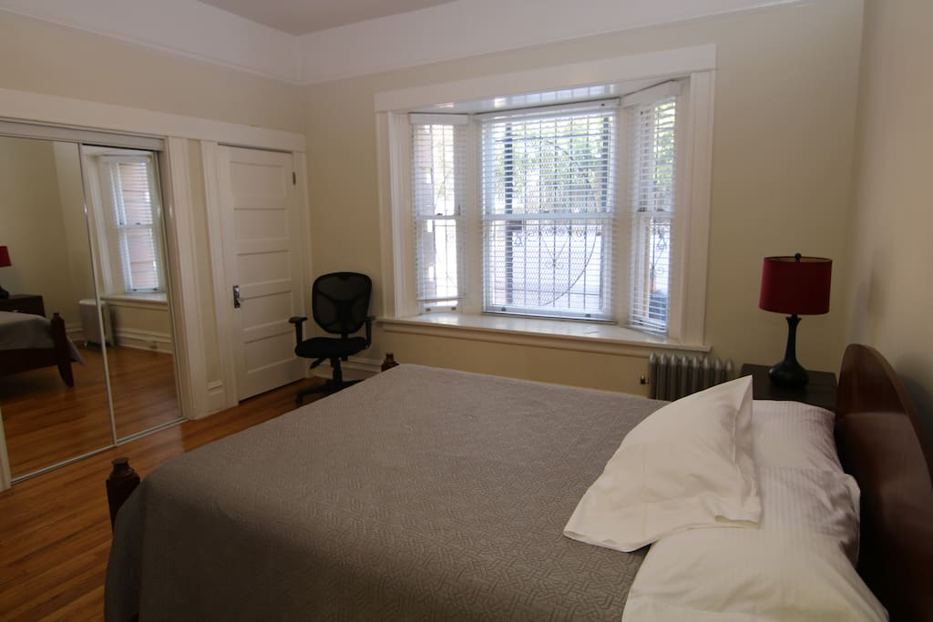 Bedroom w/ bay window