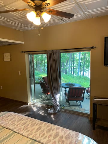 Fire Pit and Lake Viewable from the Master King Size Bed