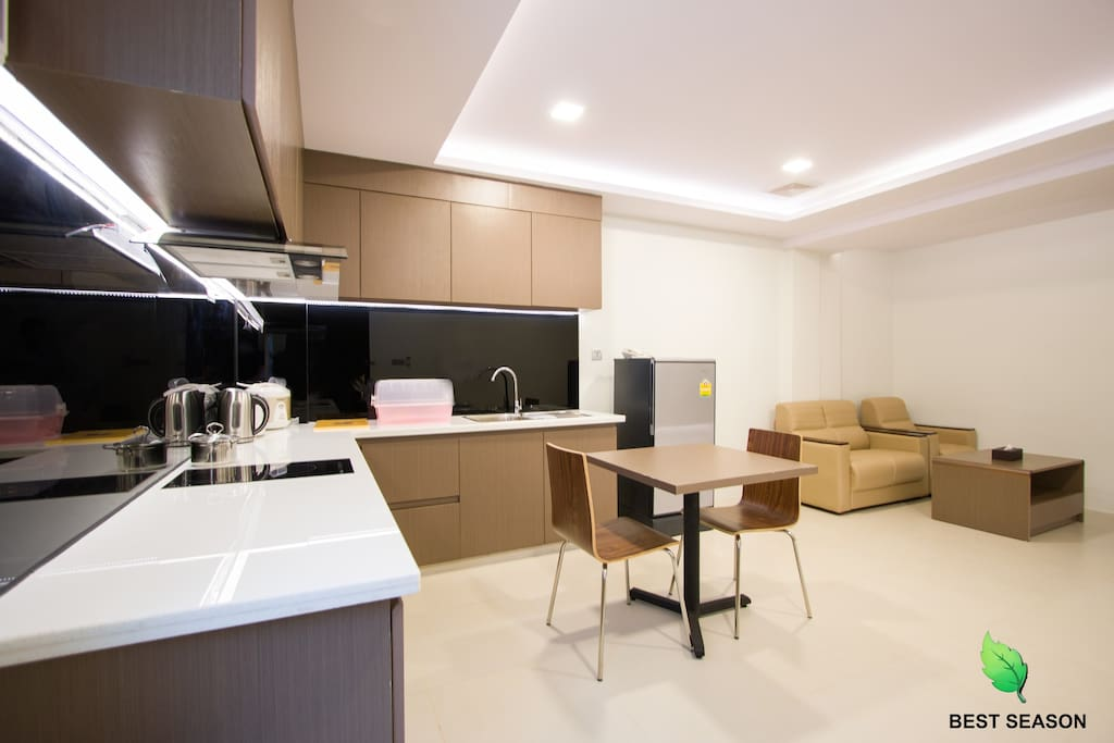 Fully Equipped Kitchen •Microwave   •Electric Stove •Refrigerator  •Rice Cooker •Toaster •Washing Machine