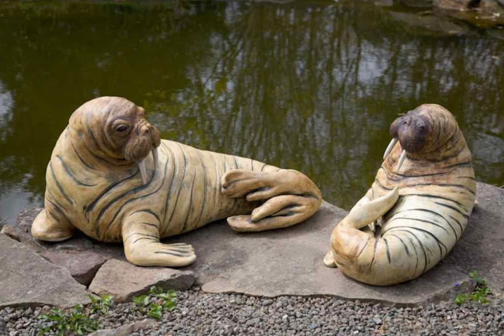 Clay sculpture by Karin Bach.