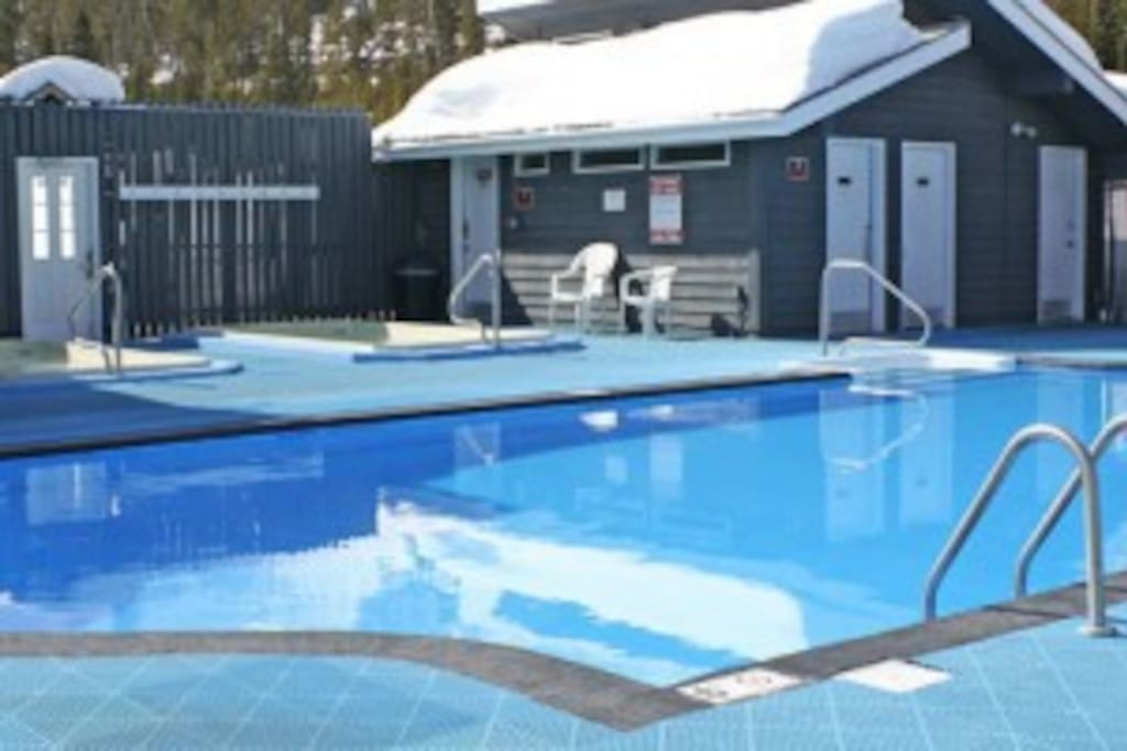 Year round heated pool and 2 hot tubs