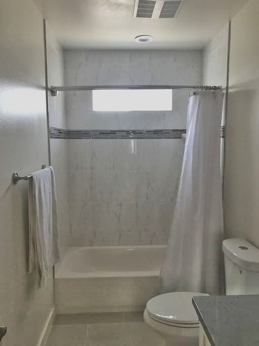Clean and Comfortable bath and shower