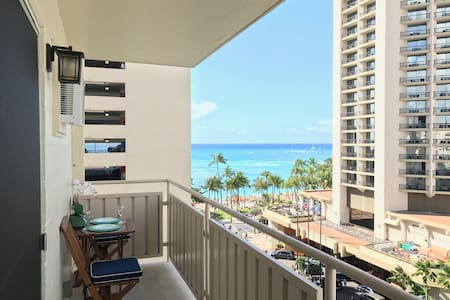 Ocean View, Steps to Beach, Top Flr Waikiki Studio - Honolulu - Daire