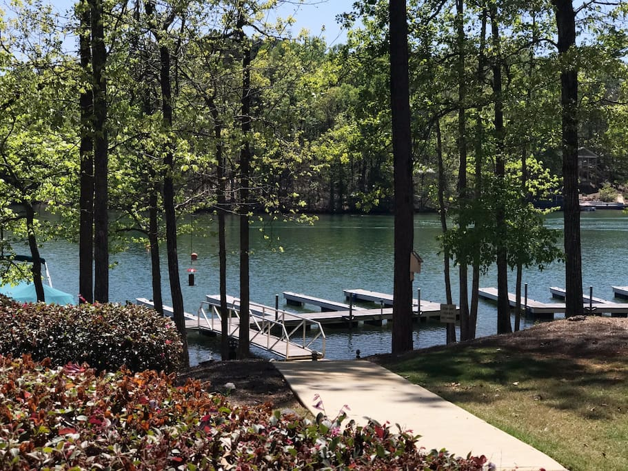 Steps to your private dedicated boat slip, great fishing from the dock
