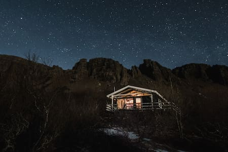Múlabyggð - Cosy cabin in beautiful location - Borgarnes - Blockhütte