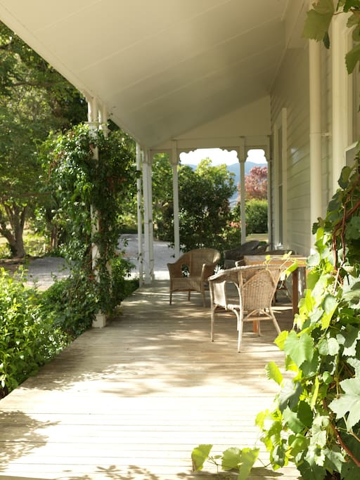 Lavender garden veranda