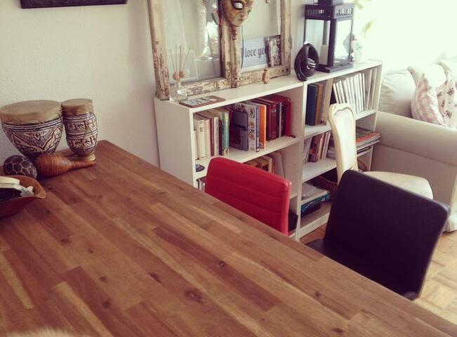 Livingroom, working table, TV, etc.