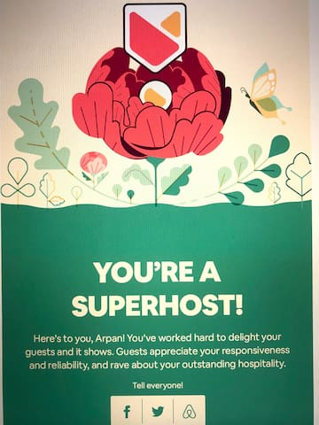I am a Superhost - I take care of my guests like my family.