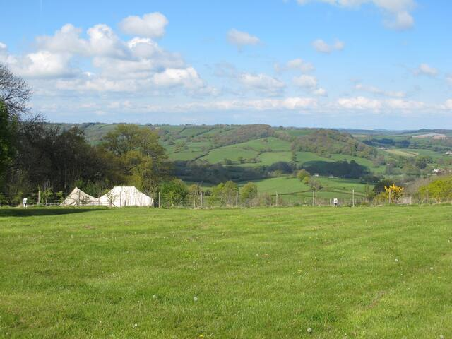 Glamping at Farway - with beautiful Devon views