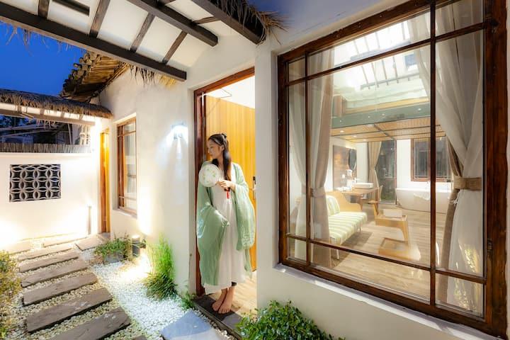 Airbnb精选西塘景区中心内•暮舍复式星空庭院房(浴缸)(代购景区优惠门票)(可加床)