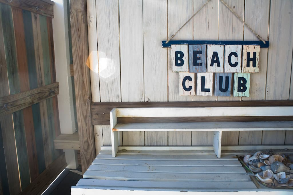Beach Club- Outdoor deck and Shower