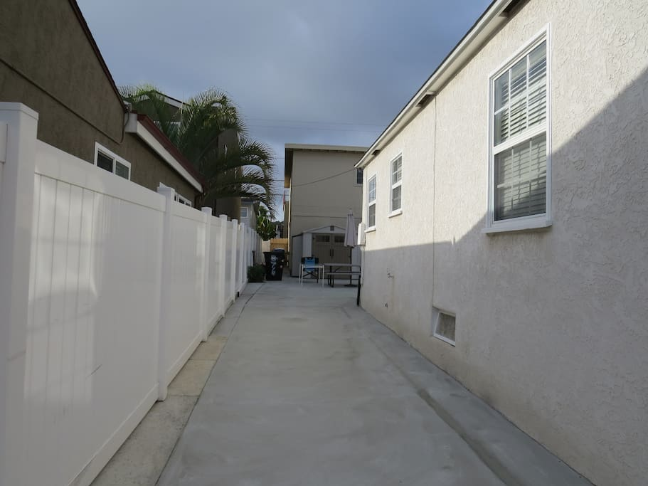 Driveway for parking.