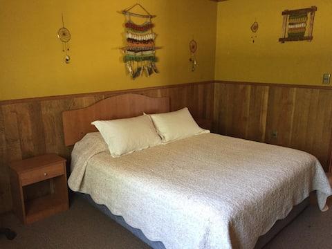 Habitación privada para 2 a 10 min de Villarrica