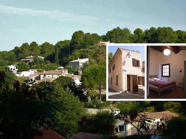 Maison 4/5 pers avec jardin dans hameau provençal