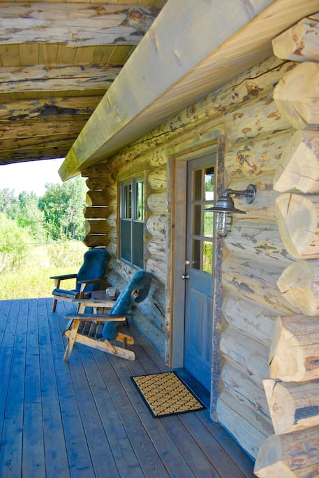 Enjoy the soothing sounds of Rock Creek from the spacious front porch