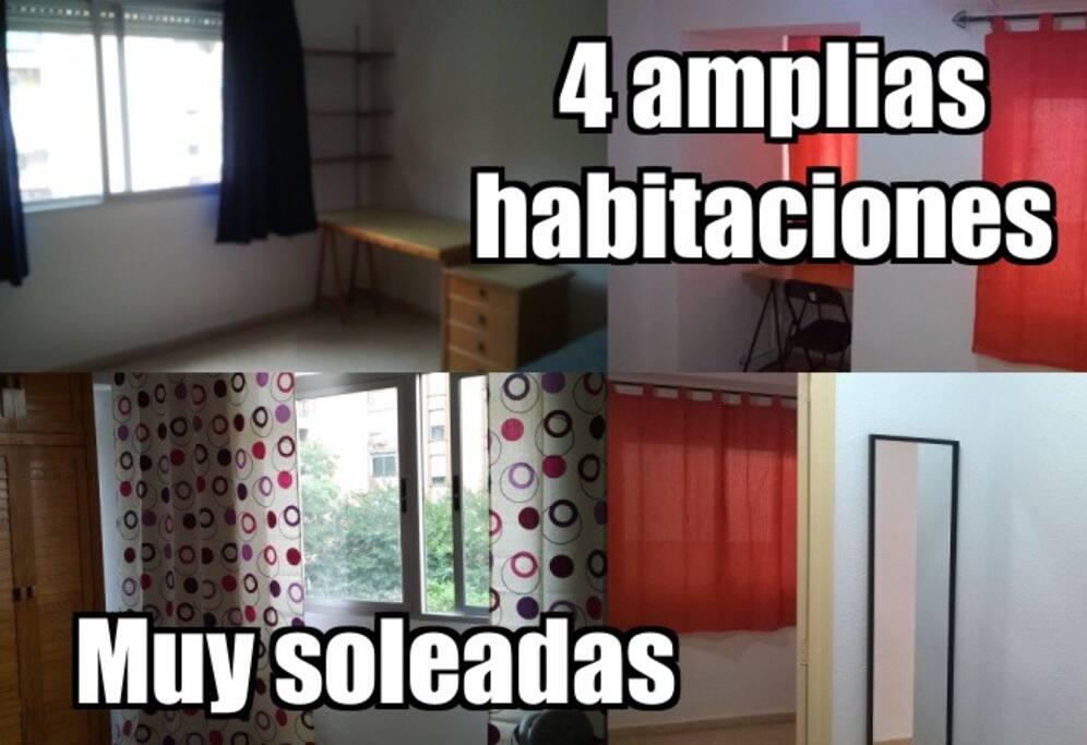 Piso soleado con 4 habitaciones appartements louer for Piso 4 habitaciones valencia