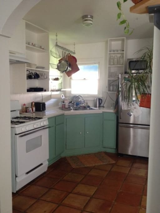 bright equipped kitchen