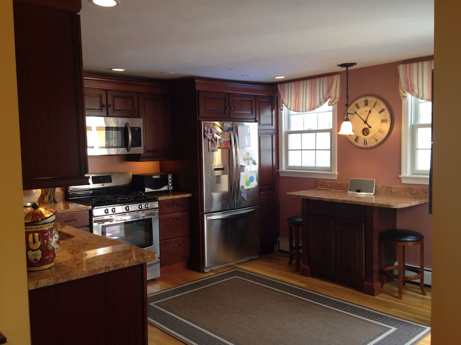 Kitchen with attached patio.