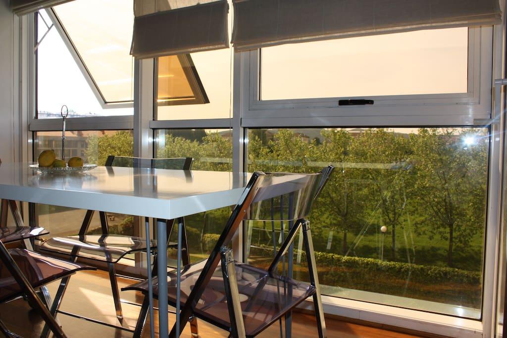 Apto luminoso con piscina y vistas apartamentos en - Apartamentos con piscina en galicia ...