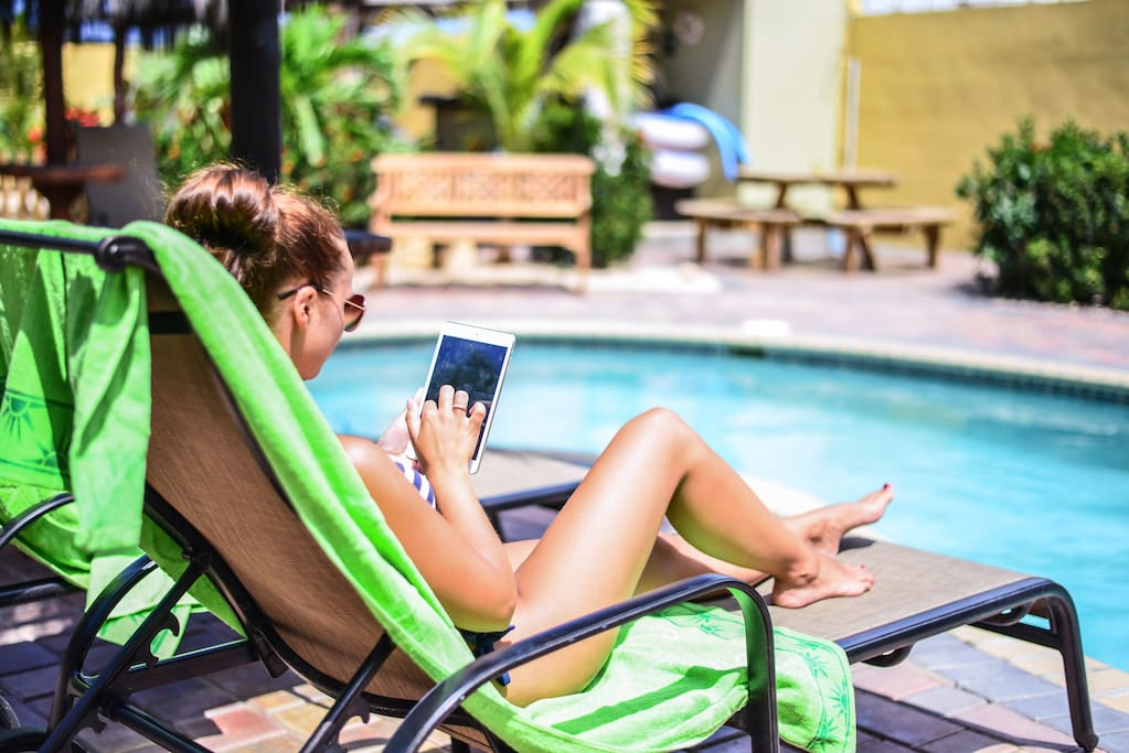 Enjoy Free WiFi around the pool and in your room.