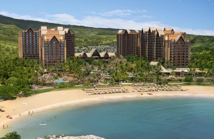 AULANI, DISNEY 1 BED OCEAN VIEW VILLA Hawaii BEST