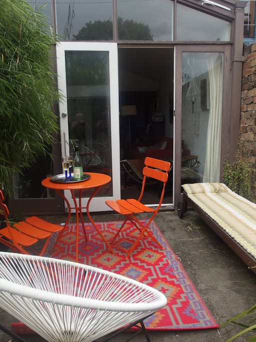 very private sunny courtyard ideal for a drink or   to sunbathe