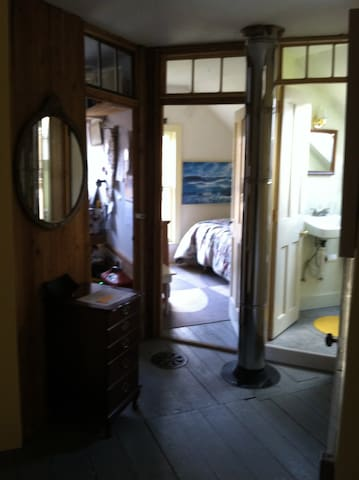 Upstairs bedroom and bath