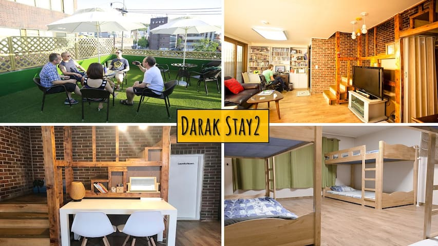 Only female.6bed dorm.2mins from hongik stn exit6