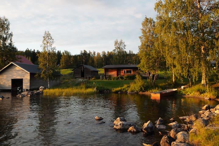 Gemütlich blockhütte am See mit trinking Wasser!