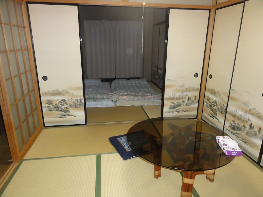 2 Tatami rooms with FUTON (for 5 persons)