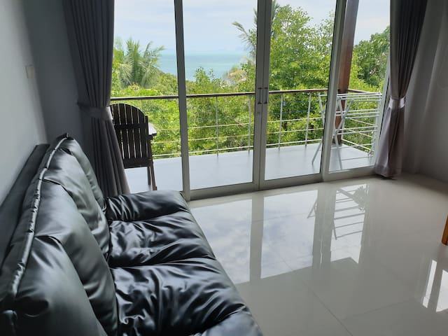 Seaview 2 bedroom house,100m to beach)