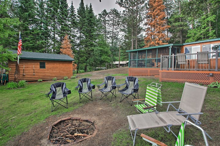 NEW! Rustic Pequot Lakes Cabin w/Dock on Loon Lake