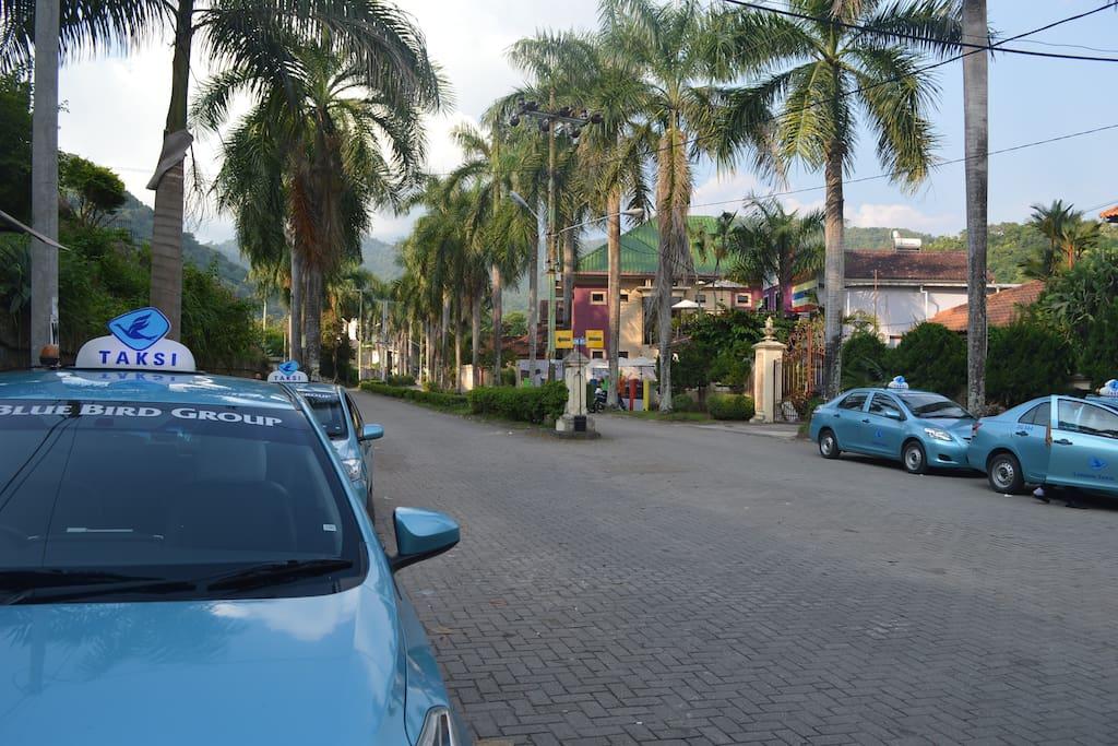 Just around the corner : Blue Bird Taxi stand