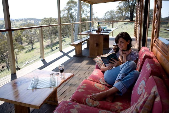 Relax on the verandah with views that go forever.