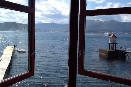 Rolig, utsikt, sjøkanten . - Valderøya