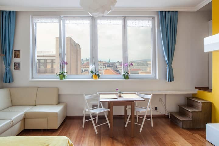 Beautiful bright apartment with amazing view