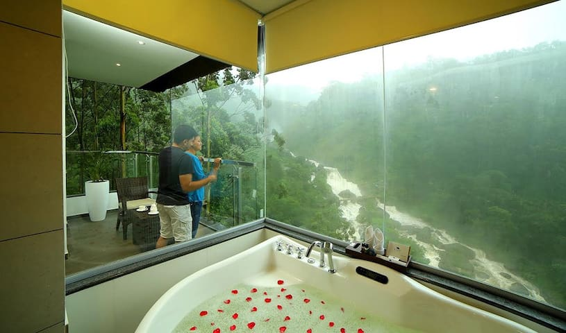 Suite Room with a view of the Waterfalls at Munnar