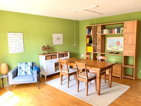Gezellig appartement 15min van Frankfurt City + parkeerplaats